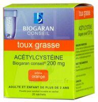 ACETYLCYSTEINE BIOGARAN CONSEIL 200 mg, poudre pour solution buvable en sachet à Marmande