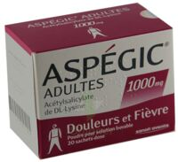 ASPEGIC ADULTES 1000 mg, poudre pour solution buvable en sachet-dose 15 à Marmande