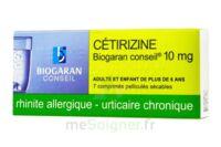 CETIRIZINE BIOGARAN CONSEIL 10 mg, comprimé pelliculé sécable à Marmande