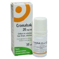 CROMABAK 20 mg/ml, collyre en solution à Marmande